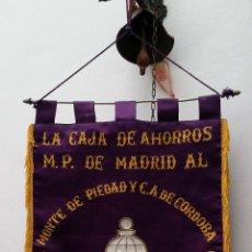 Coleccionismo deportivo: GRAN BANDERIN BORDADO, 5º CAMPEONATO NACIONAL DE CAJAS DE AHORROS, MADRID 29-V-77, MIDE 57X41 CNTS. Lote 53481144