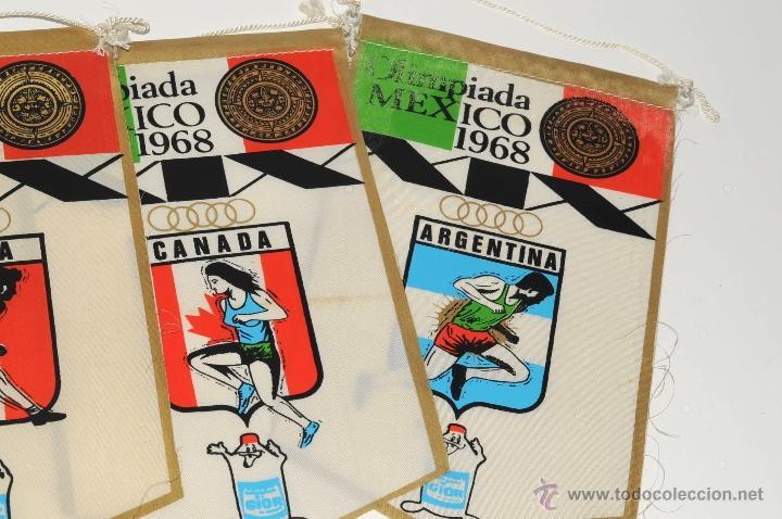 Coleccionismo deportivo: BANDERINES OLIMPIADA MEXICO 1968 ALEMANIA ITALIA CANADA ARGENTINA PROPAGANDA GIOR - Foto 3 - 49652793