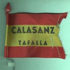 Coleccionismo deportivo: INTERESANTE BANDERIN PARA BICICLETA - CALASANZ - TAFALLA - ES VIEJO NO REPLICA. Lote 49729360