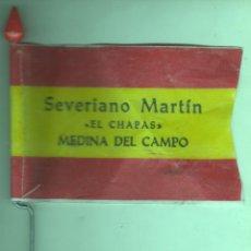 Coleccionismo deportivo: INTERESANTE BANDERIN PARA BICICLETA - MEDINA DEL CAMPO - SEVERIANO MARTIN - EL CHAPAS - NO REPLICA. Lote 49729379