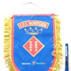 Coleccionismo deportivo: BANDERIN FUTBOL SALA PENNANT CFS MONTCADA MOVISTAR VALENCIA 23 X 18 CM BUEN ESTADO . Lote 49911023