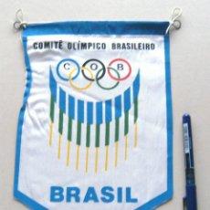 Coleccionismo deportivo: BANDERIN PENNANT COMITE OLIMPICO BRASILEIRO BRASIL OLIMPIADA COB 25 X 16 CM. Lote 49911221