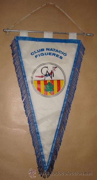 BANDERÍN DEL CLUB NATACIÓ FIGUERES (Coleccionismo Deportivo - Banderas y Banderines otros Deportes)