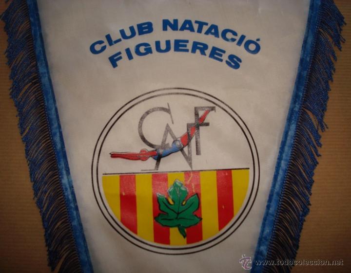 Coleccionismo deportivo: BANDERÍN DEL CLUB NATACIÓ FIGUERES - Foto 2 - 50297266
