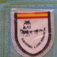 Coleccionismo deportivo: PEQUEÑO BANDERÍN DEL CLUB ESPAÑOL DE PERROS NÓRDICOS. CARRERAS TRINEOS. HUSKY. Lote 50745521