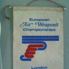 Coleccionismo deportivo: BANDERIN : CAMPEONATOS EUROPEOS DE TIRO , LONDRES , 1975 ... Lote 51731013