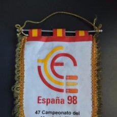 Coleccionismo deportivo: BANDERÍN 47 CAMPEONATO DEL MUNDO DE TIRO UIT - ESPAÑA 1998. Lote 51959470