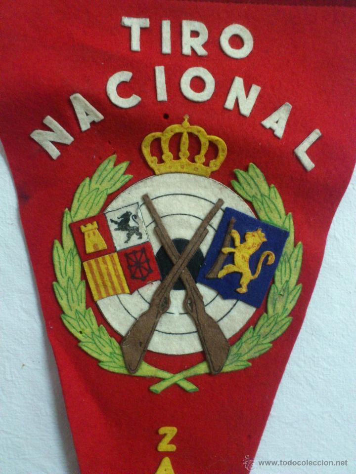 BANDERIN: ORIGINAL TIRO NACIONAL - ZARAGOZA (TIPO FIELTRO) (Coleccionismo Deportivo - Banderas y Banderines otros Deportes)