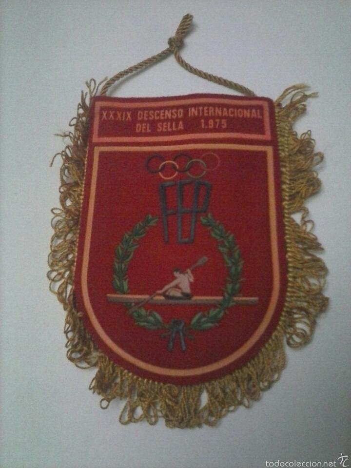 BANDERIN XXXIX DESCENSO INTERNACIONAL DEL SELLA 1975 (Coleccionismo Deportivo - Banderas y Banderines otros Deportes)