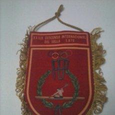 Coleccionismo deportivo: BANDERIN XXXIX DESCENSO INTERNACIONAL DEL SELLA 1975. Lote 52453055