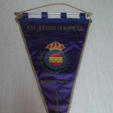 Coleccionismo deportivo: BANDERIN XXI JUEGOS OLIMPICOS MONTREAL FEDERACION NAC TIRO OLIMPICO 1976. Lote 54948150