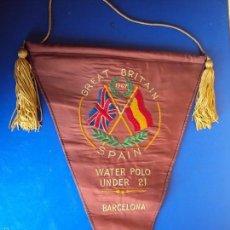 Coleccionismo deportivo: (F-1436)BANDERIN BORDADO DE LA 6 NACIONES , GRAN BRETAÑA-ESPAÑA , BARCELONA 1967. Lote 56034523