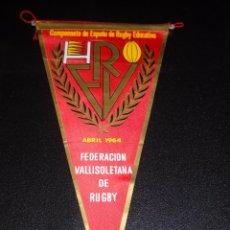 Coleccionismo deportivo: BANDERÍN FEDERACIÓN VALLISOLETANA DE RUGBY 1964. Lote 56194956