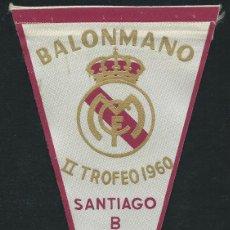 Coleccionismo deportivo: REAL MADRID. SEGUNDO TROFEO SANTIAGO BERNABEU. 1960. BALONMANO.. Lote 57751145