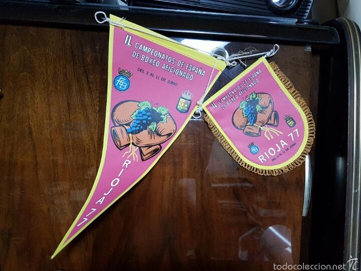 BANDERINES CAMPEONATO DE BOXEO AFICIONADOS RIOJA (Coleccionismo Deportivo - Banderas y Banderines otros Deportes)