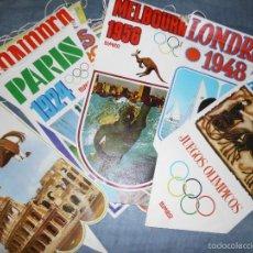 Coleccionismo deportivo: LOTE DE 16 BANDERINES VINTAGE DE LOS JUEGOS OLÍMPICOS DEL MUNDO. Lote 58631381