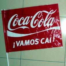 Coleccionismo deportivo: BANDERA FLAG ANTIGUA CAI ZARAGOZA COCA COLA BALONCESTO BASKETBALL BASKET VINTAGE. Lote 60300791