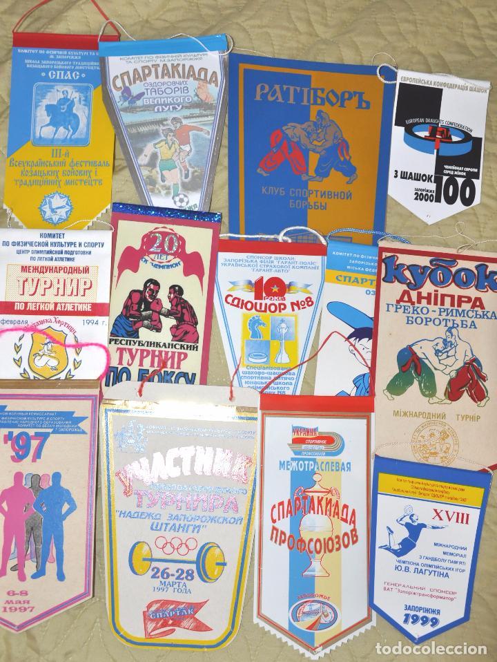 Coleccionismo deportivo: Lote .69 Banderines deportivos .URSS.Ucrania .Polonia .Uzbecistan .. - Foto 4 - 64447051