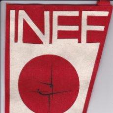 Coleccionismo deportivo: BANDERIN DE LA INEF MADRID AÑOS 60 FACULTAD DE CIENCIAS DE LA ACTIVIDAD FISICA Y DEPORTE. Lote 65482638