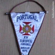 Coleccionismo deportivo: BANDERIN DE PORTUGAL DEL XV EUROPEU JUNIORES BARCELOS 1976 (HOCKEY). Lote 65657794