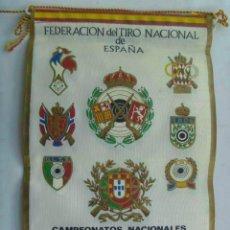 Coleccionismo deportivo: BANDERIN : FEDERACION TIRO NACIONAL DE ESPAÑA, CAMPEONATOS NLES. TIRO NEUMATICO. VALENCIA, 1966. Lote 68966853