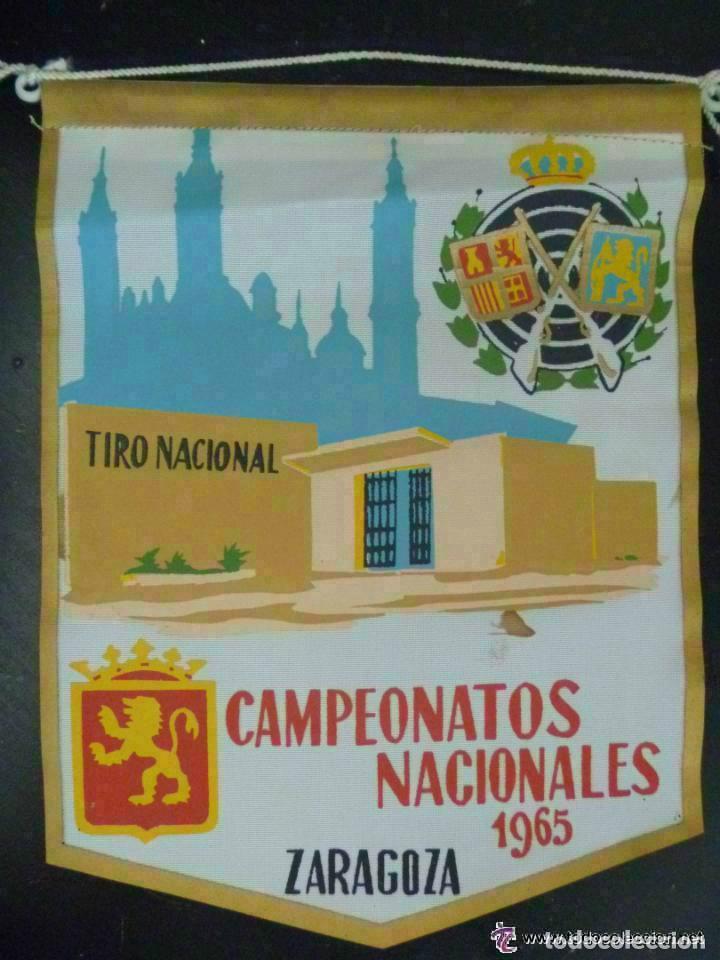 BANDERIN : CAMPEONATOS NACIONALES 1965 . TIRO NACIONAL. ZARAGOZA (Coleccionismo Deportivo - Banderas y Banderines otros Deportes)