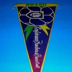 Coleccionismo deportivo: BANDERÍN BALONCESTO BASKET BRASIL, CONFEDERAÇAO BRASILEIRA DE BASKETBALL, ORIGINAL AÑOS 60.. Lote 71069645
