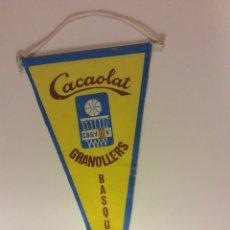 Coleccionismo deportivo: BANDERIN CACAOLAT GRANOLLERS BASQUET. Lote 73045851