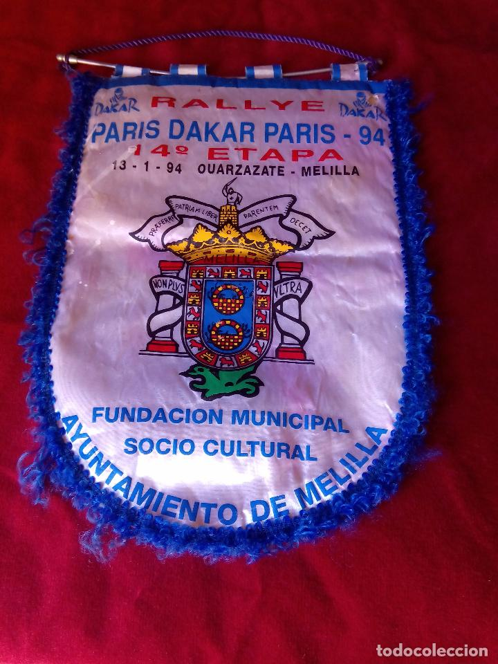 BANDERIN PARIS DAKAR PARIS 13 - 1- 1994 OUARZAZATE MELILLA (Coleccionismo Deportivo - Banderas y Banderines otros Deportes)