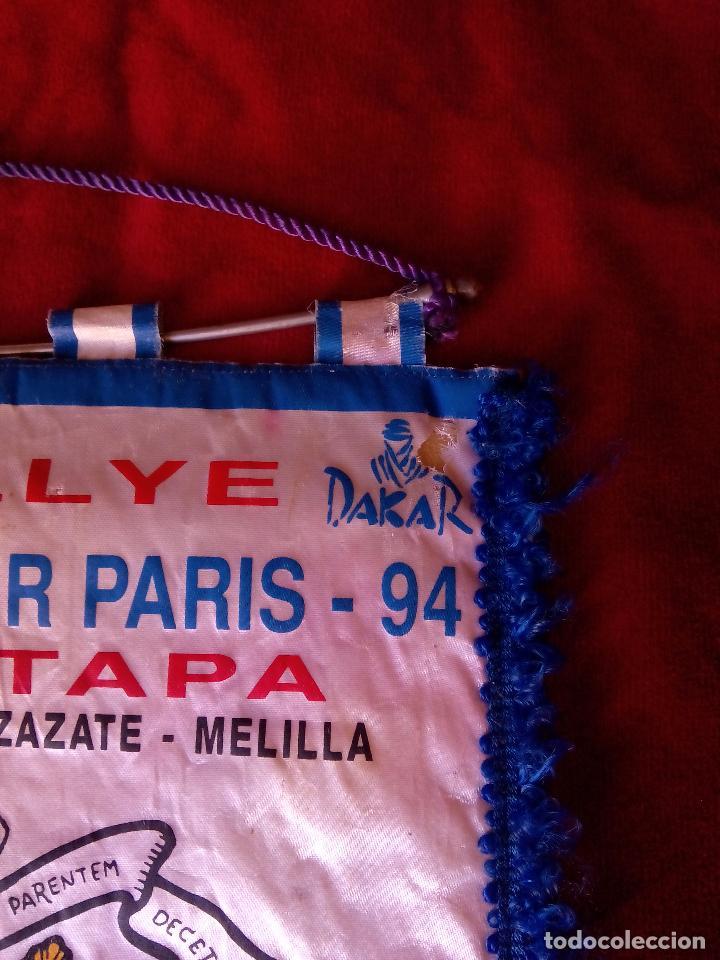 Coleccionismo deportivo: banderin paris dakar paris 13 - 1- 1994 ouarzazate melilla - Foto 2 - 75257719