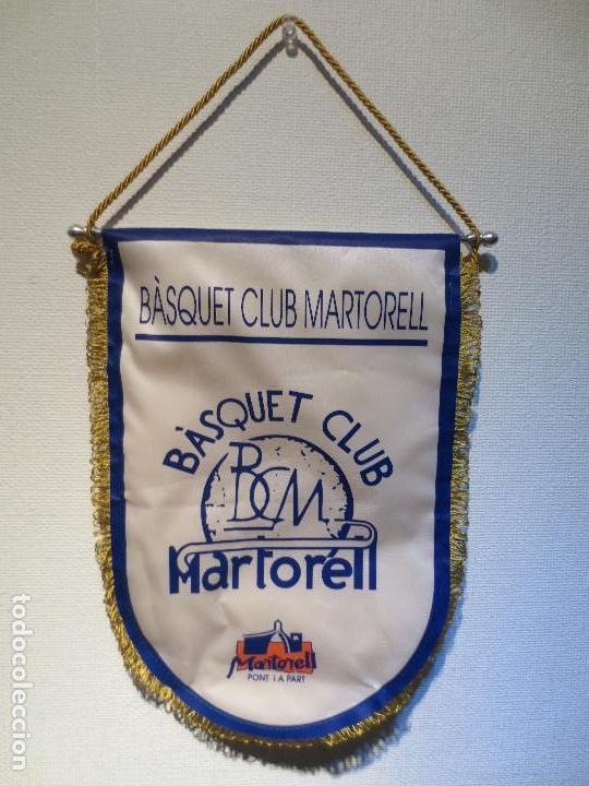 BANDERIN BALONCESTO - BASQUET CLUB MARTORELL. (Coleccionismo Deportivo - Banderas y Banderines otros Deportes)