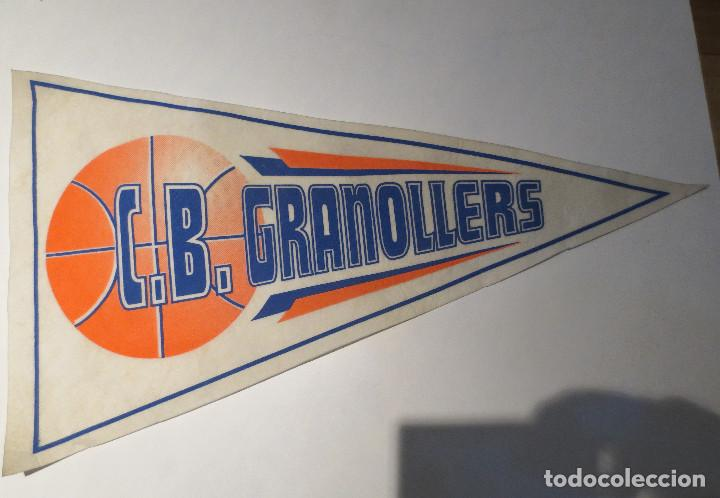 BANDERIN BALONCESTO - C. B . GRANOLLERS. (Coleccionismo Deportivo - Banderas y Banderines otros Deportes)