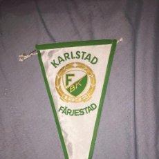Coleccionismo deportivo: KARLSTAD FARJESTAD, BANDERIN HOCKEY, SUECIA, 28CM. Lote 76086611