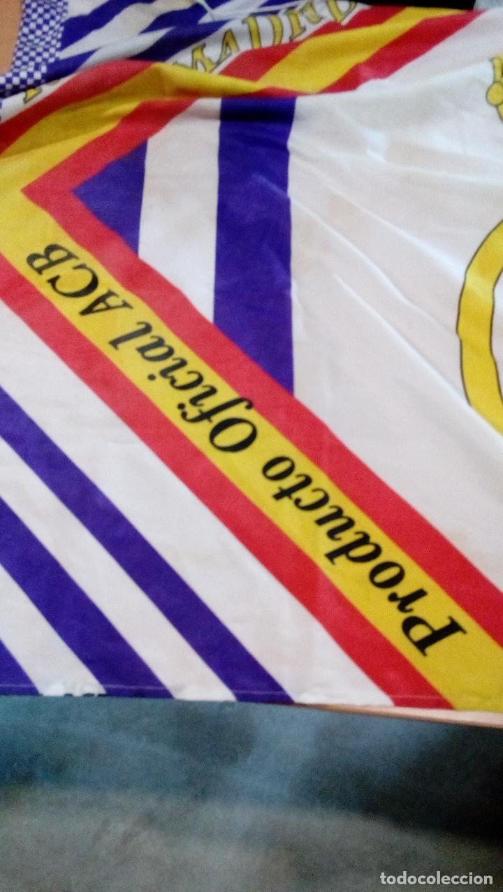 Coleccionismo deportivo: bandera real madrid - producto oficial acb - tamaño 150 x 100 centimetros - Foto 3 - 77756565