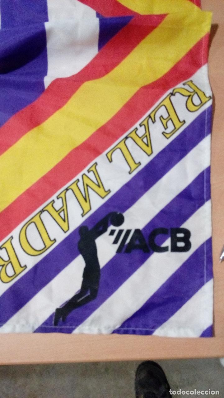 Coleccionismo deportivo: bandera real madrid - producto oficial acb - tamaño 150 x 100 centimetros - Foto 5 - 77756565