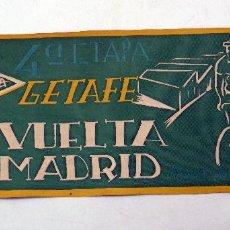 Coleccionismo deportivo: BANDERÍN I VUELTA MADRID CICLISMO EDUCACIÓN Y DESCANSO GETAFE 4ª ETAPA 1959. Lote 77889721
