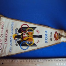 Coleccionismo deportivo: (F-170432)BANDERIN COMITE OLIMPICO ESPAÑOL XVII JUEGOS OLIMPICOS DE ROMA 1960. Lote 82300352