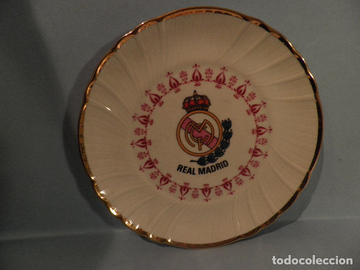 PEQUEÑO PLATO REAL MADRID ,17 CM DIAMETRO - VI-RE - MHOI-XENT, --IRABIA (Coleccionismo Deportivo - Banderas y Banderines otros Deportes)