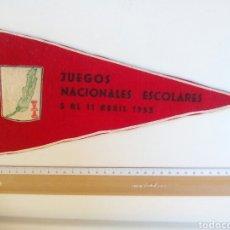 Coleccionismo deportivo: BANDERÍN FALANGE, FIELTRO JUEGOS NACIONALES ESCOLARES 1953. Lote 83710091