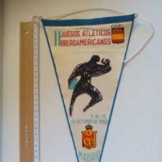 Coleccionismo deportivo: BANDERÍN JUEGOS ATLÉTICOS IBEROAMERICANOS 1962. MADRID.. Lote 83710306
