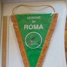 Coleccionismo deportivo: BANDERÍN ITALIA SEZIONE DI ROMA. ALPINI.. Lote 83711008