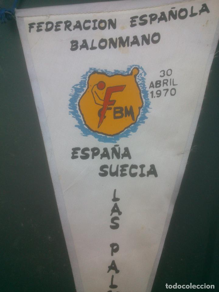 Coleccionismo deportivo: BANDERIN FEDERACION ESPAÑOLA DE BALONMANO.AÑO1970 - Foto 2 - 91026560