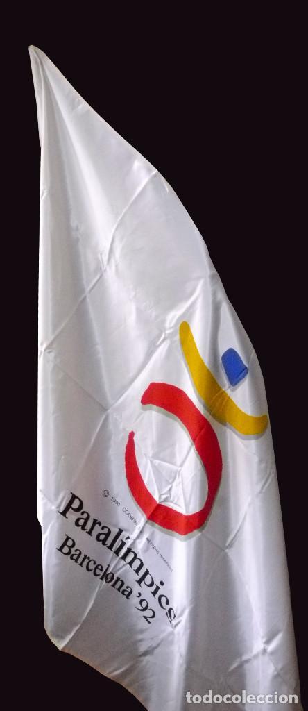 Coleccionismo deportivo: Bandera oficial Paralimpicos Barcelona-92 - Foto 9 - 91264120
