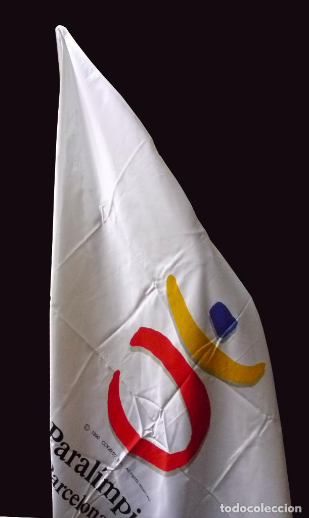 Coleccionismo deportivo: Bandera oficial Paralimpicos Barcelona-92 - Foto 2 - 91264120