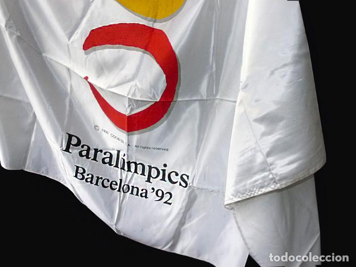 Coleccionismo deportivo: Bandera oficial Paralimpicos Barcelona-92 - Foto 4 - 91264120
