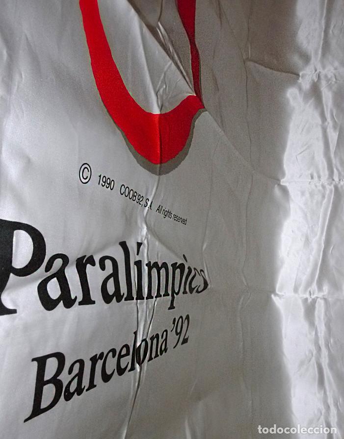 BANDERA OFICIAL PARALIMPICOS BARCELONA-92 (Coleccionismo Deportivo - Banderas y Banderines otros Deportes)