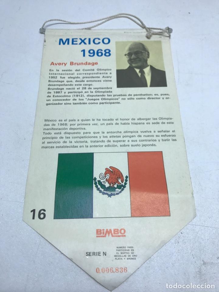 Coleccionismo deportivo: BANDERIN MEXICO 1968. BIMBO - Foto 2 - 98664178