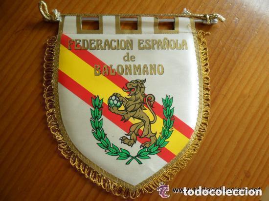 BANDERÍN FEDERACIÓN ESPAÑOLA DE BALONMANO (Coleccionismo Deportivo - Banderas y Banderines otros Deportes)