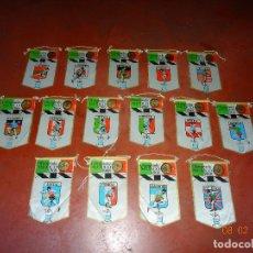Coleccionismo deportivo: ANTIGUO LOTE DE 15 BANDERINES PAISES PARTICIPANTES EN LA OLIMPIADA DE MEXICO 1968 PUBLICIDAD DE GIOR. Lote 111191479