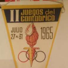 Coleccionismo deportivo: BANDERÍN II JUEGOS DEL CANTÁBRICO ASTURIAS 1965. Lote 112068383